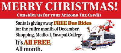 Free Rides in December, 2016