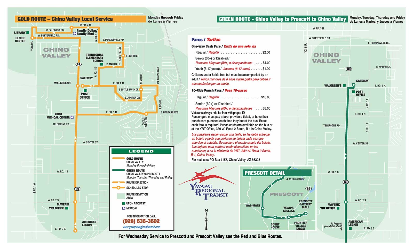 Gold and Green Route Map