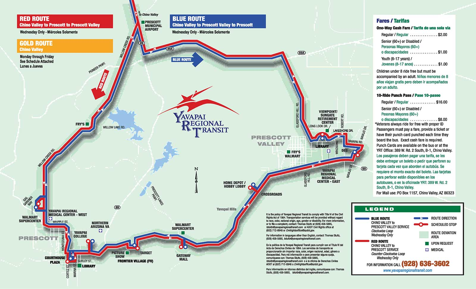 Red and Blue Routes